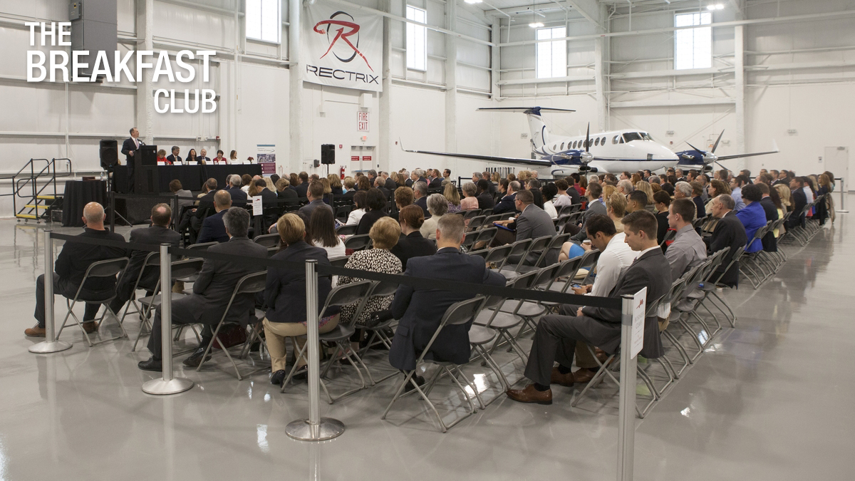 Unique Venue - Rectrix Aviation - Hosts The Breakfast Club