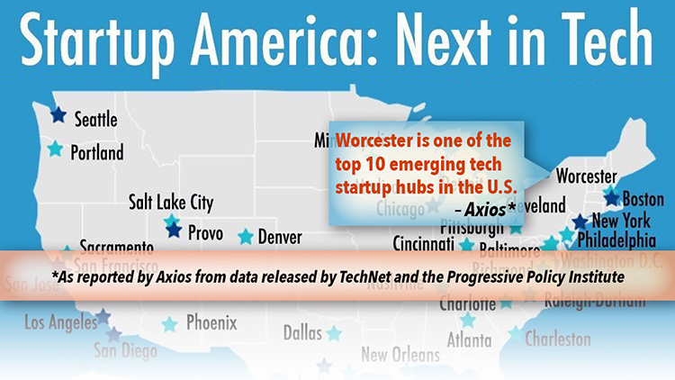 Worcester Named One of 10 Emerging Tech Hubs in Nation