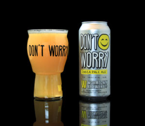 A tropical IPA, Don't Worry has an ABV of 5.6 percent. / PHOTO COURTESY WORMTOWN BREWERY