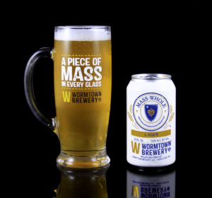 Mass Whole is a lager with 4.2 percent ABV. / PHOTO COURTESY WORMTOWN BREWERY