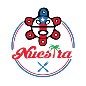 The Nuestra logo adorns the wall at the Webster Square Puerto Rican eatery. / PHOTO COURTESY NUESTRA